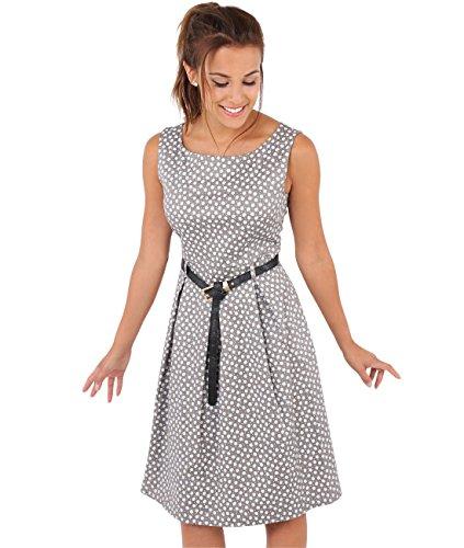 Krisp Damen 50er Jahre Vintage Kleid (Mokka, Gr.38, M) (7158-MOC-10)