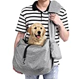 Ownpets Pet Sling Carrier, Fits 15 to 25lbs Extra-Large Dog/Cat Sling Carrier Reversible and Hands-Free Dog Bag with Adjustable Strap and Pocket Shoulder Pad for Outdoor Travel Hiking