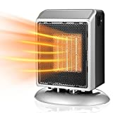 Calefacción Calentador De Espacio Casa Portátil Dos Archivos 400W / 900W PT C Calefacción De Cerámica, Protección De Control De Temperatura Interna Bottom Anti-Falling (Color : Silver)