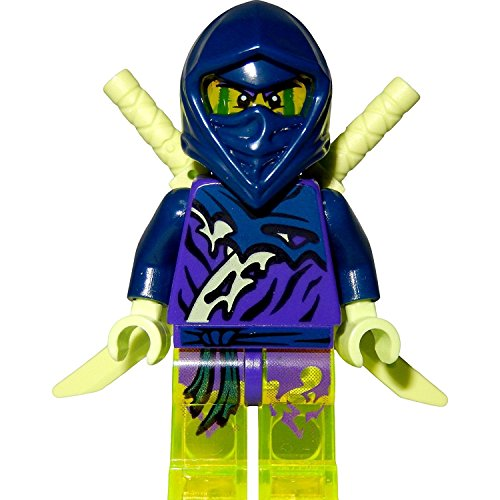 LEGO Ninjago: Minifigur Ghost Ninja Hackler mit Schwertern