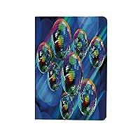 70年代のパーティーの装飾 人気 ipad air4 2020ケース ipad 10.9インチ カバー カラフルなファンキーな活気のあるディスコボール抽象ナイトクラブダンステーマ装飾 手帳型 ブック型 おしゃれ PUレザー 軽量 角度調節可 多色