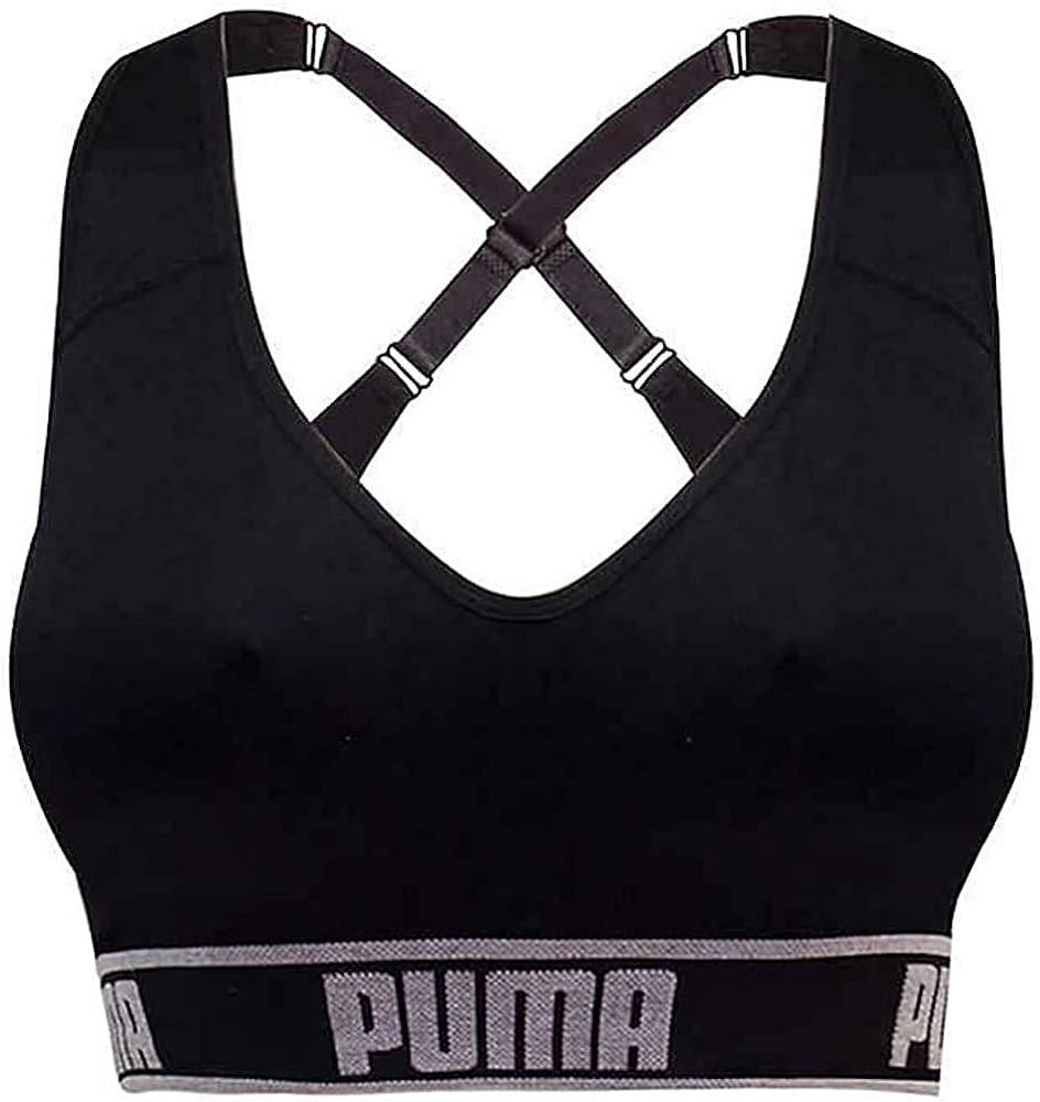 Amazon.com: PUMA Women's Seamless Sports Bra Removable Cups ...