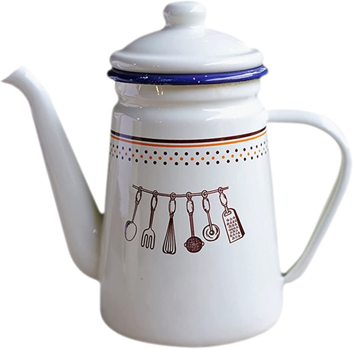 hongbanlemp Coffee Kettle Coffee Pot Enamel Household Hand-Made