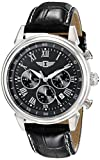 Invicta Men's I by Invicta 44mm Stainless Steel and Leather Chronograph Quartz Watch, Black (Model: IBI90242-001)