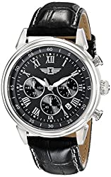 I By Invicta Men's 90242-001 Chronograph Black Dial Black Leather