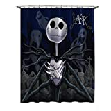 Disney Nightmare Before Christmas - Black Shower Curtain