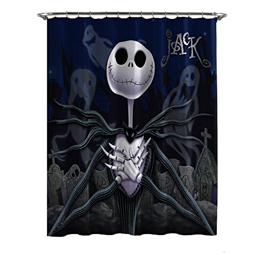 Jay Franco Disney Nightmare Before Christmas Moonlight Madness Shower Curtain