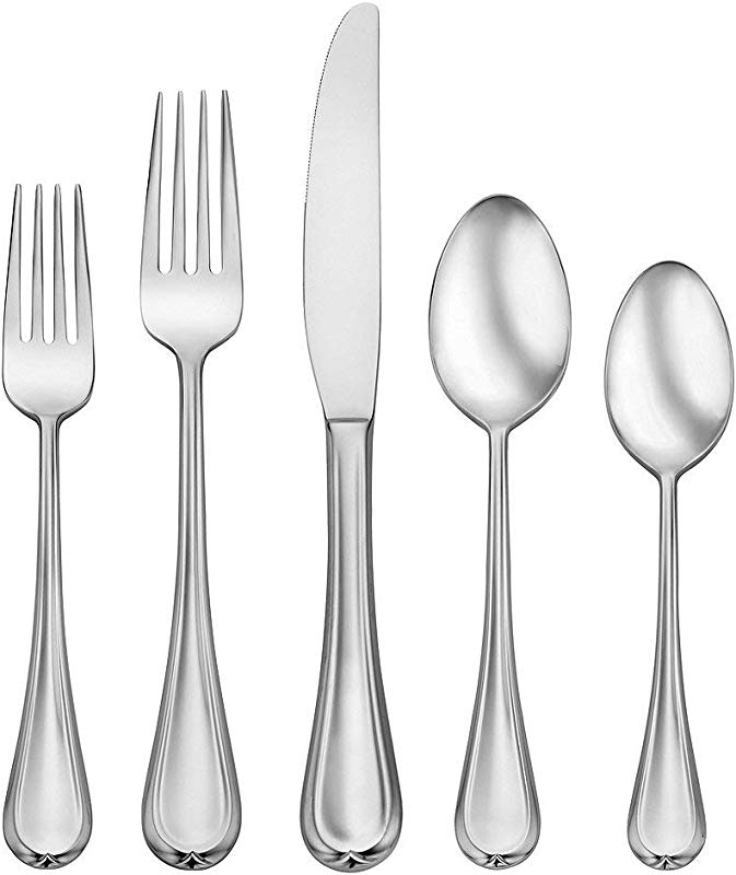 Oneida Clariat 20 Piece Service For 4 Stainless 18 10 Flatware Set