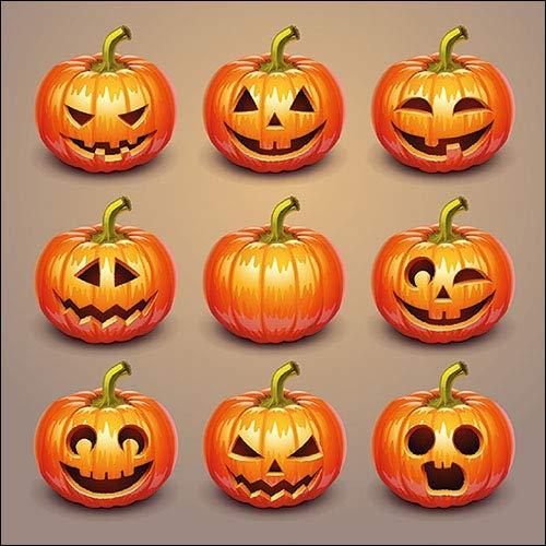 Papier- Servietten Halloween Pumpkins Lunch Fest Party ca 33x33cm Herbst Halloween Winter