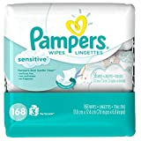Pampers Baby Wipes Sensitive 3X Pop-Top Packs, 168 Count