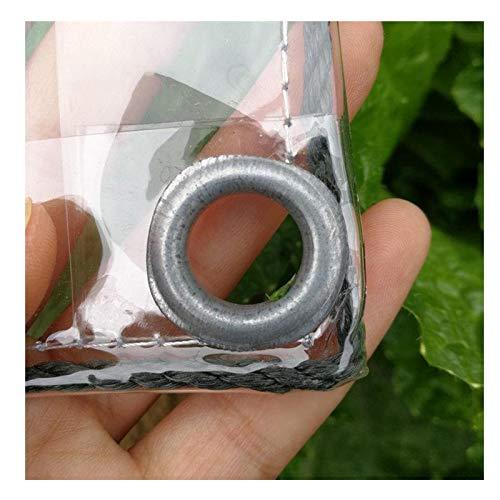 YYFANG Lona De Protección,Tela Impermeable Transparente De 0.3 Mm, con Ojal Reforzado, Carpa Al Aire Libre Plegable Resistente Al Desgarro, Adecuada para Invernadero De Plantas