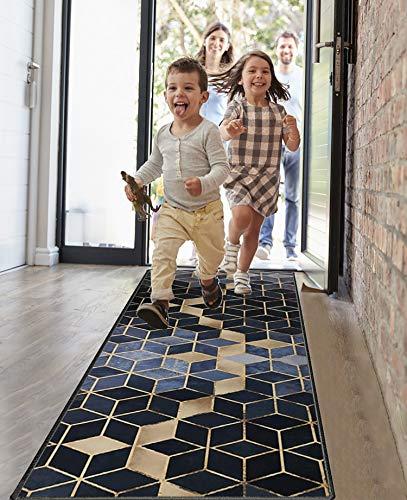 Amazpro Läufer Flur Teppich 40x100cm, Teppichläufer Meterware, rutschfest & leicht abwaschbar läufer küche für Wohnzimmer Flur Küche