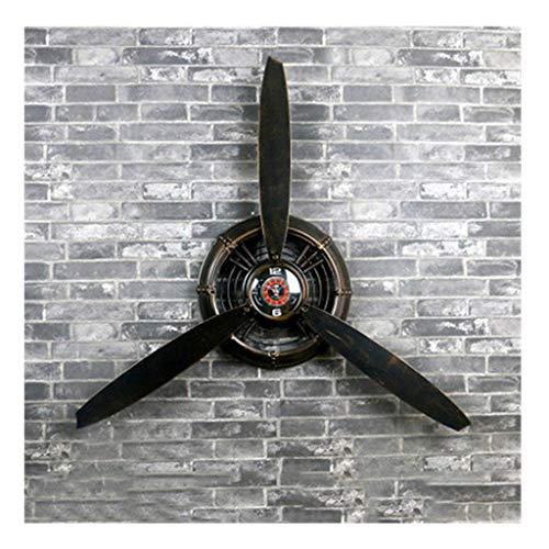 Loft Industrial Wind Wanduhr Retro Flugzeug Propeller Eisen Handwerk Uhr Exquisite Dekorationen...