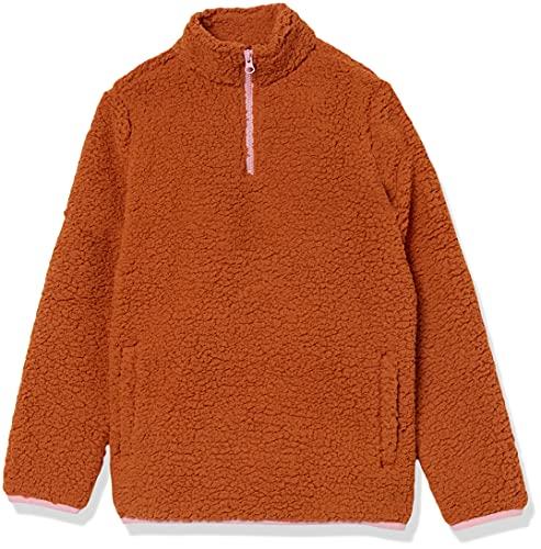 Amazon Essentials Sherpa Fleece Full-Zip Jacket Outerwear-Jackets, Marrón Claro, 3 años