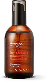 AROMATICA Juniper Berry Trimming Massage & Body Oil 3.38oz / 100ml, Vegan | Recommended for Aroma Massages, Blended with G...