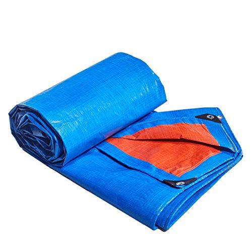 ZZYE Lona Tarpaulina Polietileno Tela Impermeable Impermeable Impermeable Lluvia Lluvia Luna Lona Tarpaulina, Azul/Naranja, Espesor 0.38mm, 180 g / m2 Lona Impermeable (Size : 7X8)
