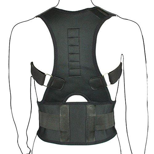 Provectus - Corrector postural de espalda y hombros (magnético, transpirable, neopreno), color negro