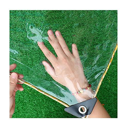 LJIANW-lonas impermeables exterior, Cubierta Vegetal Transparente Impermeable Plástico PVC Lona con Ojales, Flor Planta Cubiertas De Hojas Impermeable, 300 G/M² (Color : Claro, Size : 3x6m)