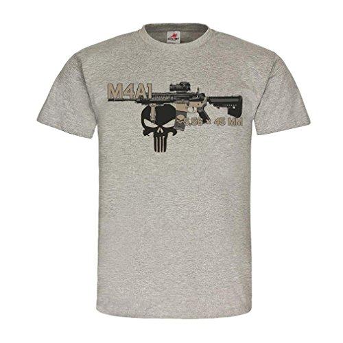 M1A1 Airsoft Gewehr Waffe Cod Karabiner Deko Fan Usa Amry Gamer Maschinengewehr NATO ISAF Sturmgewehr Delta #21414, Größe:S, Farbe:Grau