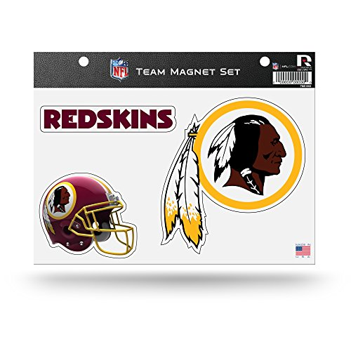 NFL Rico Industries  Die Cut Team Magnet Set Sheet, Washington Redskins