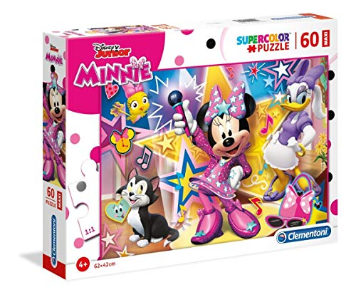 Clementoni- Puzzle Suelo 60 Piezas Minnie Happy Helpers, Multicolor (26443.8)
