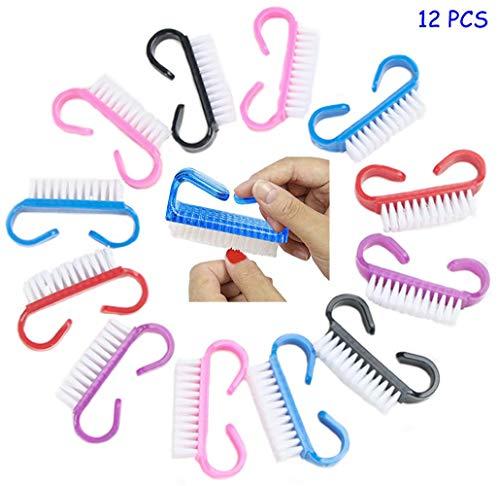 Dusenly 12 tipos de cepillos de uñas para limpiar cepillos de uñas,  limpiadores de uñas y cepillos de pedicura para hombres y mujeres