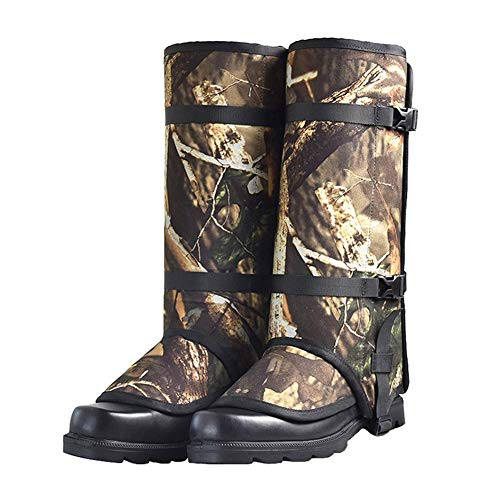 Outdoor Gamaschen Beinschutz Gaiter Schützen Sie Ihr Bein Vor Schlangen- Und Insektenbissen Für Outdoor-Hosen Zum Wandern,Klettern Und Schneewandern Gehende Kletternde Jagd-Schnee(1 Paar) 40x46cm
