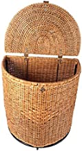 AKWAY™ Laundry basket with lid | Cloth storage basket | 21Inch