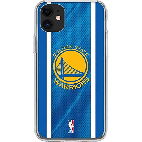 Skinit Clear Phone Case Compatible with iPhone 11 - Officially Licensed NBA Golden State Warriors Jersey Design