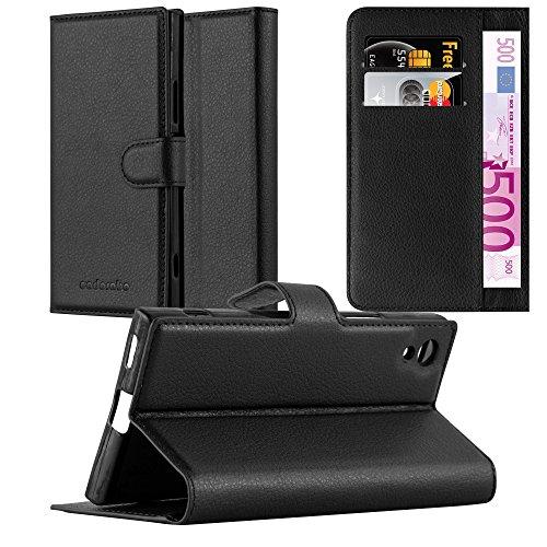 Cadorabo Funda Libro para Sony Xperia XA1 Ultra en Negro Fantasma - Cubierta Proteccíon con Cierre Magnético, Tarjetero y Función de Suporte - Etui Case Cover Carcasa
