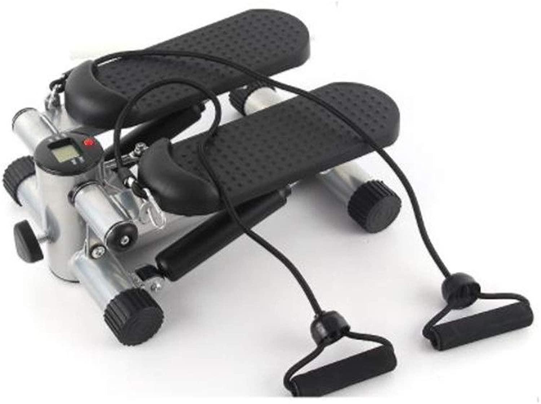 ステッパー 大きな質感の滑り止めペダルペダル運動トレーニングマシンを備えた調整可能なミニフィットネスステッパーエクササイズマシン 調整可能なステッパー (色 : ブラック, サイズ : 35.5x21x45.5cm)