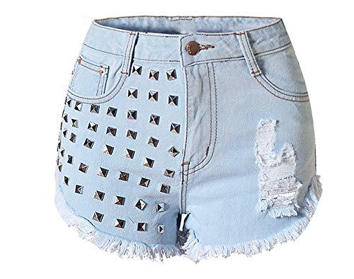 Show-Show-Fashion-pantalones cortos de cintura alta verano para vaqueros mujeres