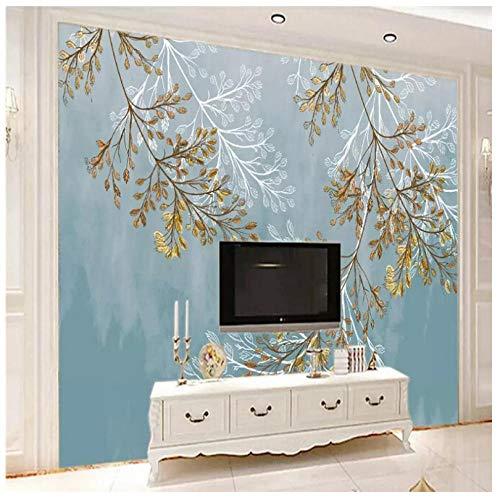 Lvabc hand beschilderde pruik bladeren Scandinavische tv achtergrond muur professionele productie muurbehang aangepaste poster foto muur 150x120cm