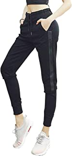 Fit Frenchie Women's Joggers Sweatpants High Waist Comfy Cotton Track Pants Drawstring with Pockets