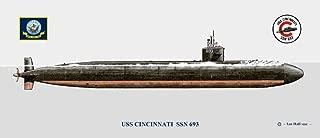 USS Cincinnati SSN-693 Submarine Print