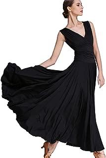 V-Neck Dress Latin Dress Tango Skirts Ballroom Skirts Waltz Dress