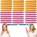 EQARD Hair Curlers No Heat Spiral Curls Styling Rollers Kit 36 Magic Heatless Hair Curlers with 1 Styling Hooks for Home Salon DIY 45cm/17.72 Long Wave Hair