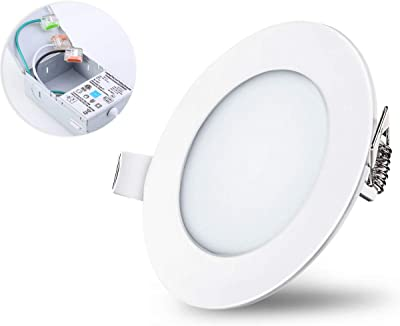 6000K Daylight 70W Equivalent LED Ceiling Light Superdream Energy Saving 700LM 6 Watt 4-inch Retrofit LED Recessed Lighting Fixture