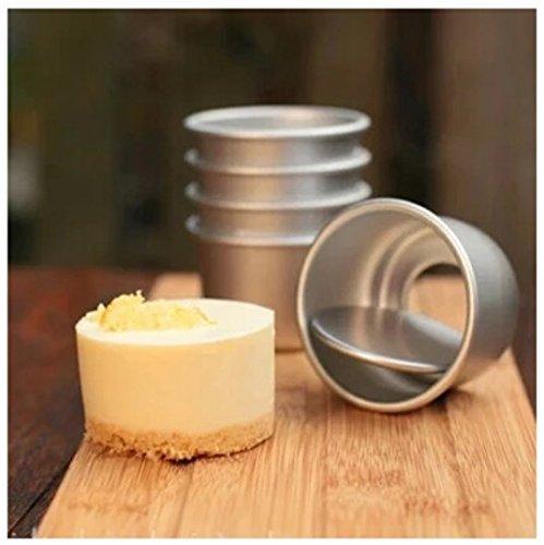Flunyina Perfect Performance Aluminium Mini Round Chiffon Cake Pan, Set of 5