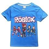 Kids Boys Roblox Fútbol Juegos Family Gaming Team Tops tee (azul1, 140 (7-8 años))