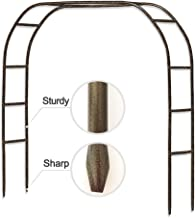 Metal Garden Arch,7.8 Feet High x 5.5 Feet Wide Sturdy Metal Arbor with Sharp Ends for Climbing Vines and Plants,Weddings ...