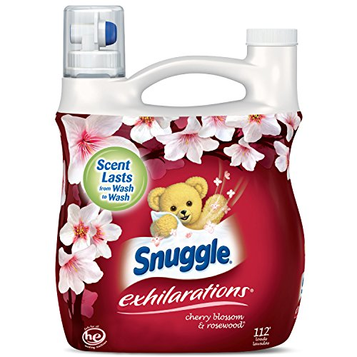 Snuggle Exhilarations Concentrated Fabric Softener Liquid, Cherry...
