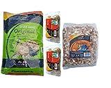 Wild Bird Food Winter Bundle Original Seed Mix 1kg, Hi-Energy Peanuts 450g, 12 x Fat Balls Un-Netted British Made No Mess Selection by Kingdom Supplies