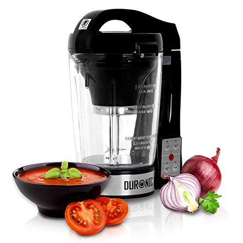 Duronic BL78 elektrischer Standmixer/Suppenbereiter/Babynahrungszubereiter/Thermalmixer und Kochmixer mit 1,2L Glasbehälter – Suppe auf Knopfdruck kreiert