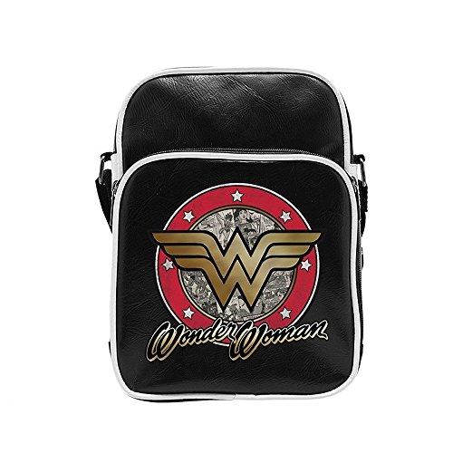 Wonder Woman - Bolso bandolera unisex negro negro