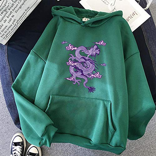 Hoodie Sweatshirt Frauen Sweatshirt Hoodie Niedlicher Hip Hop Kawaii Harajuku Drache Koreanisch Lustige Top Vintage T-Shirt Print Punk Kleidung XXXL 8