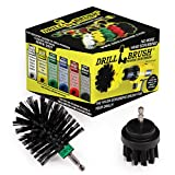 BBQ Grill Cleaning 2 Piece Mini Size Black Ultra Stiff Rotary Cleaning Drill Brushes Used for Lodge Fireplaces, Furnaces, Baked-on Food, and Industrial Applications by Drillbrush