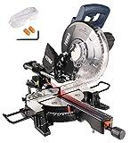 FERM Troncatrice Radiale 1900W - 255 mm - laser - con TCT T60 lama e sacco polvere | ARTIGIANO