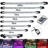 DOCEAN SMD 5050 45LEDs Illuminazione per Acquario LED Lampada Acquario Luci dell'acquario Aquarium Lighting Luce Impermeabile IP68 per Acquario, RGB, 78cm