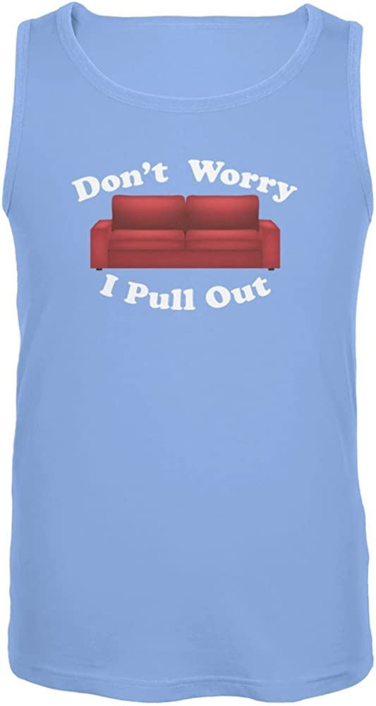 Old Glory Don't Worry I Pull Out Carolina Blue Adult Tank Top